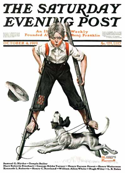 Norman Rockwell Saturday Evening Post 1919_10_04 | 400 Norman Rockwell Magazine Covers 1913-1963