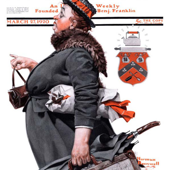 Norman Rockwell Saturday Evening Post 1920_03_27 Copyright crop | Best of Vintage Cover Art 1900-1970