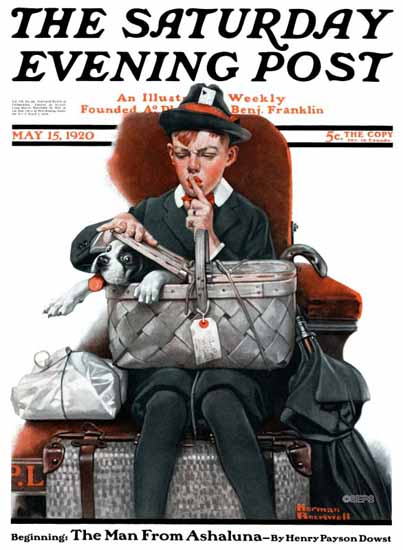 Norman Rockwell Saturday Evening Post 1920_05_15 | The Saturday Evening Post Graphic Art Covers 1892-1930