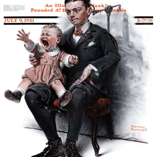 Norman Rockwell Saturday Evening Post 1921_07_09 Copyright crop | Best of Vintage Cover Art 1900-1970