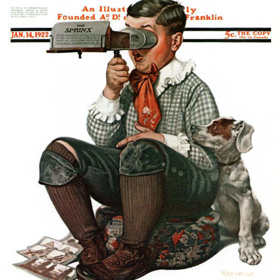 Norman Rockwell Saturday Evening Post 1922_01_14 Copyright crop | Best of 1920s Ad and Cover Art