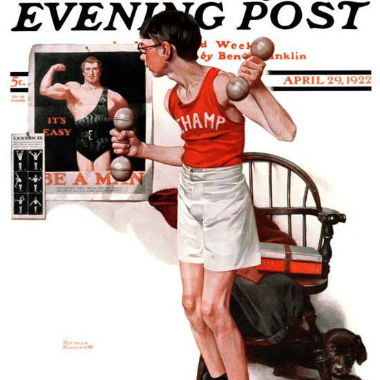 Norman Rockwell Saturday Evening Post 1922_04_29 Copyright crop | Best of Vintage Cover Art 1900-1970