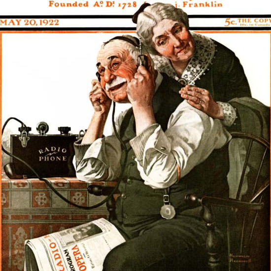 Norman Rockwell Saturday Evening Post 1922_05_20 Copyright crop | Best of 1920s Ad and Cover Art