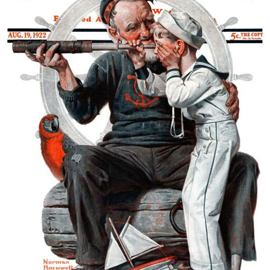 Norman Rockwell Saturday Evening Post 1922_08_19 Copyright crop | Best of 1920s Ad and Cover Art