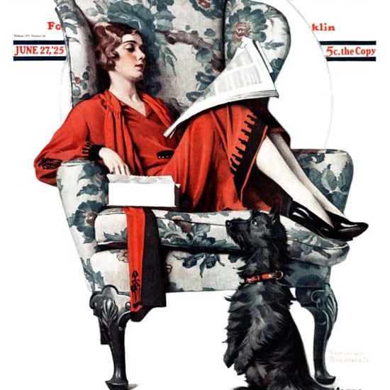 Norman Rockwell Saturday Evening Post 1925_06_27 Copyright crop | Best of 1920s Ad and Cover Art