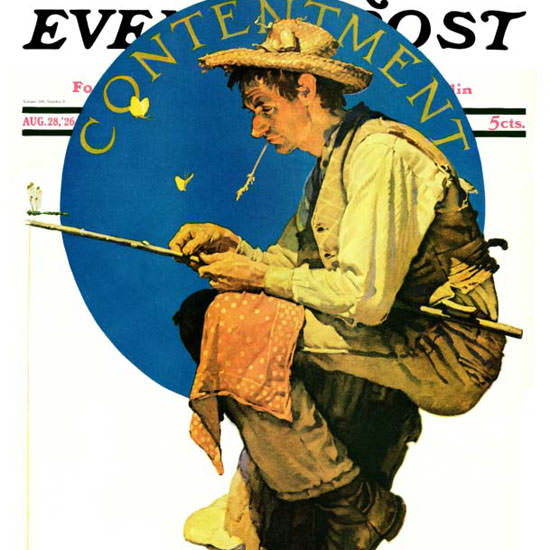 Norman Rockwell Saturday Evening Post 1926_08_28 Copyright crop | Best of 1920s Ad and Cover Art