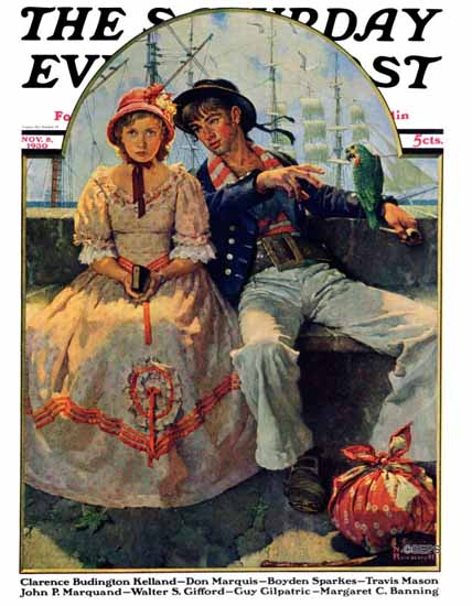 Norman Rockwell Saturday Evening Post 1930_11_08 | The Saturday Evening Post Graphic Art Covers 1892-1930