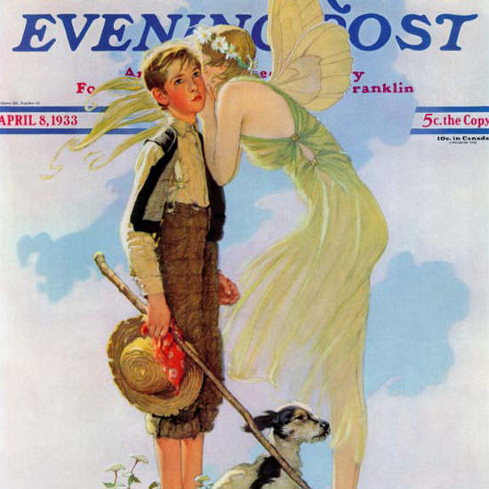 Norman Rockwell Saturday Evening Post 1933_04_08 Copyright crop | Best of Vintage Cover Art 1900-1970