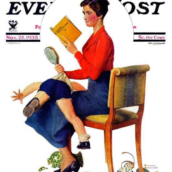 Norman Rockwell Saturday Evening Post 1933_11_25 Copyright crop | Best of Vintage Cover Art 1900-1970