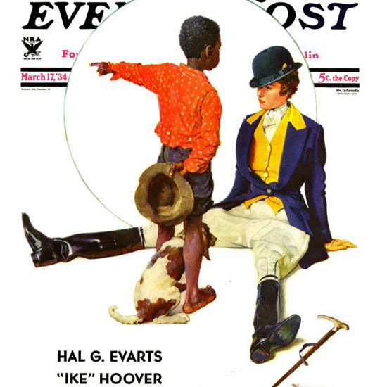 Norman Rockwell Saturday Evening Post 1934_03_17 Copyright crop | Best of 1930s Ad and Cover Art