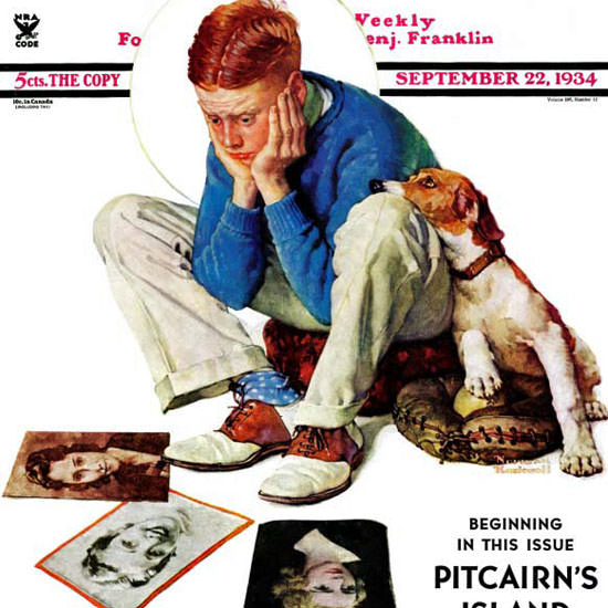 Norman Rockwell Saturday Evening Post 1934_09_22 Copyright crop | Best of Vintage Cover Art 1900-1970
