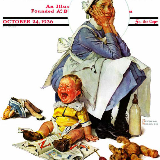 Norman Rockwell Saturday Evening Post 1936_10_24 Copyright crop | Best of Vintage Cover Art 1900-1970