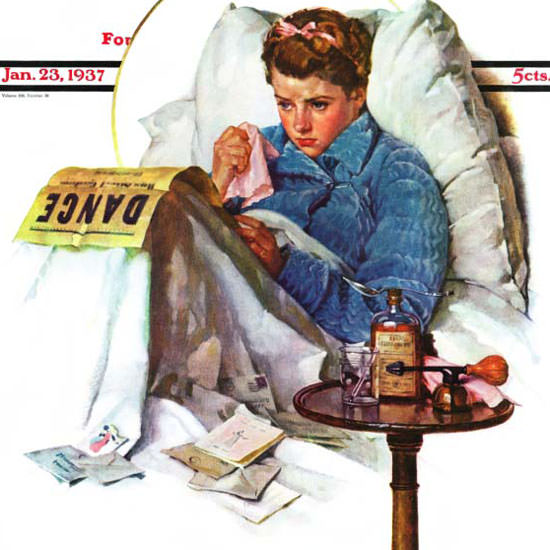 Norman Rockwell Saturday Evening Post 1937_01_23 Copyright crop | Best of Vintage Cover Art 1900-1970