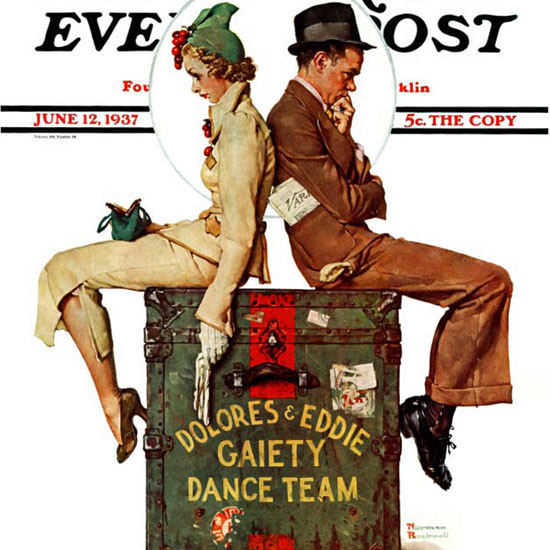 Norman Rockwell Saturday Evening Post 1937_06_12 Copyright crop | Best of 1930s Ad and Cover Art