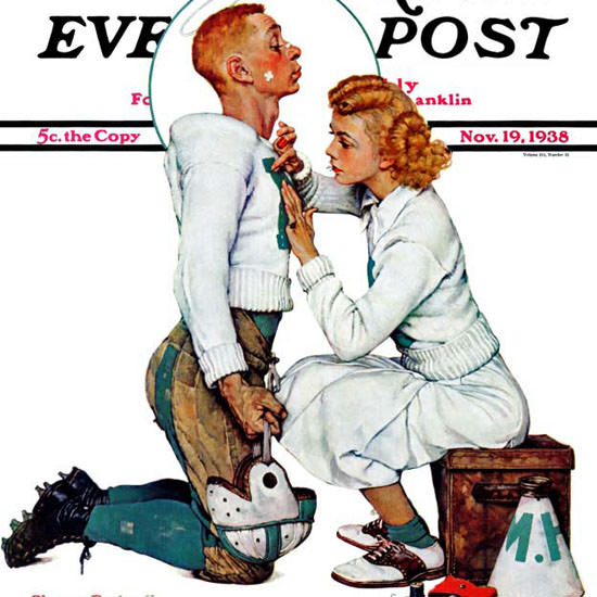 Norman Rockwell Saturday Evening Post 1938_11_19 Copyright crop | Best of Vintage Cover Art 1900-1970