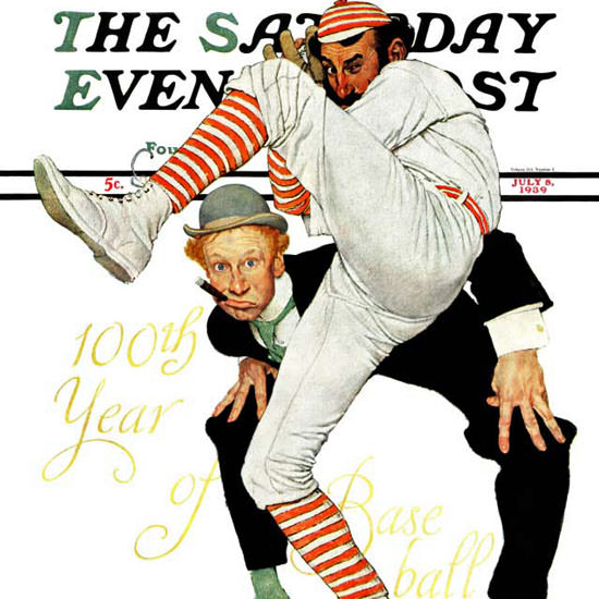 Norman Rockwell Saturday Evening Post 1939_07_08 Copyright crop | Best of Vintage Cover Art 1900-1970