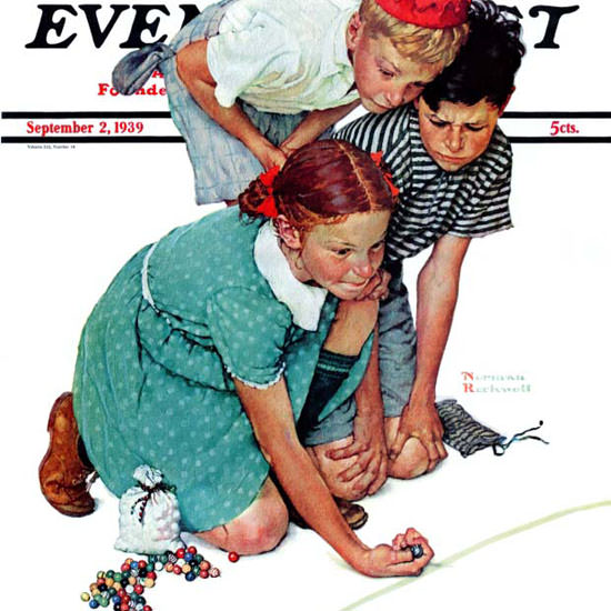 Norman Rockwell Saturday Evening Post 1939_09_02 Copyright crop | Best of Vintage Cover Art 1900-1970