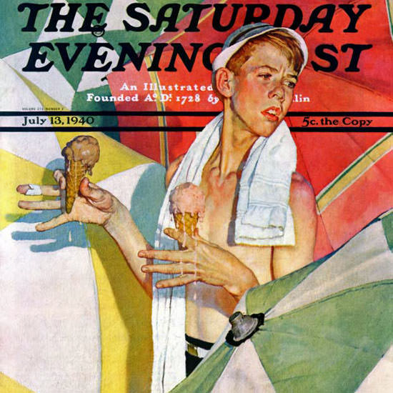 Norman Rockwell Saturday Evening Post 1940_07_13 Copyright crop | Best of Vintage Cover Art 1900-1970