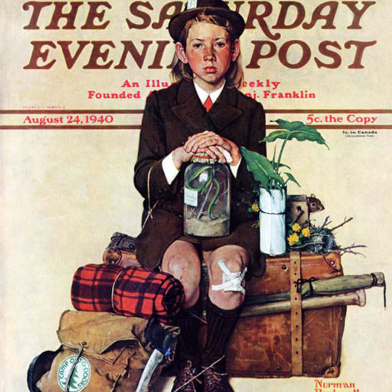 Norman Rockwell Saturday Evening Post 1940_08_24 Copyright crop | Best of Vintage Cover Art 1900-1970
