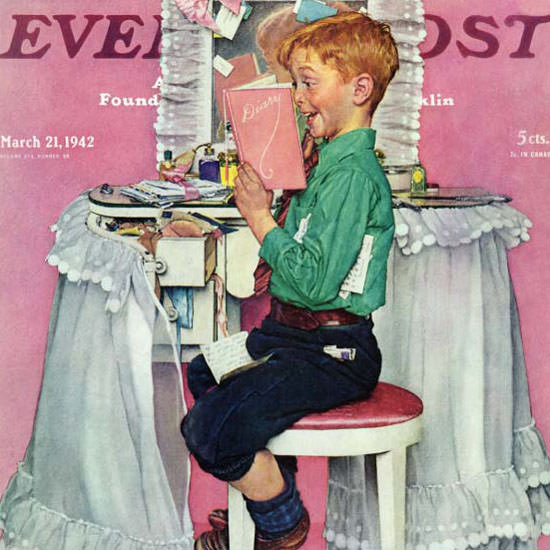 Norman Rockwell Saturday Evening Post 1942_03_21 Copyright crop | Best of Vintage Cover Art 1900-1970