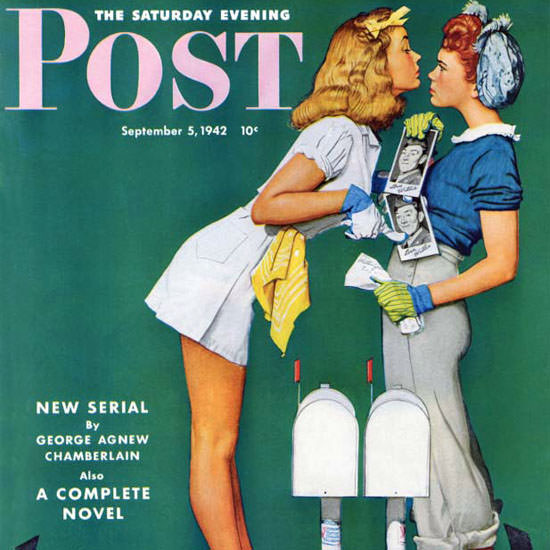 Norman Rockwell Saturday Evening Post 1942_09_05 Copyright crop | Best of Vintage Cover Art 1900-1970