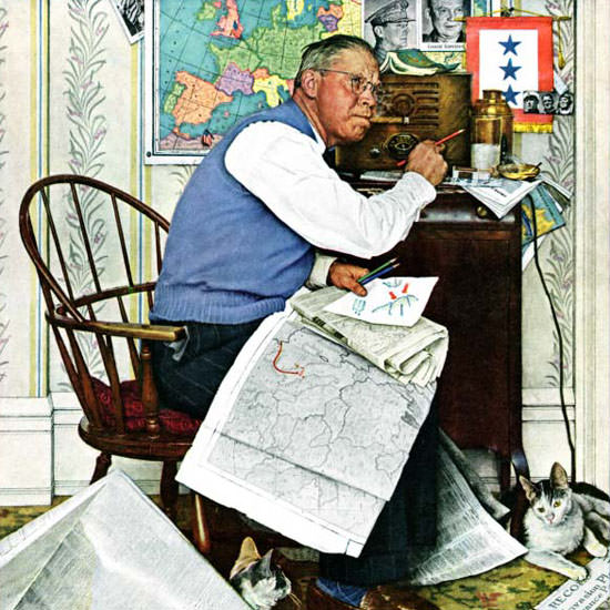Norman Rockwell Saturday Evening Post 1944_04_29 Copyright crop | Best of Vintage Cover Art 1900-1970