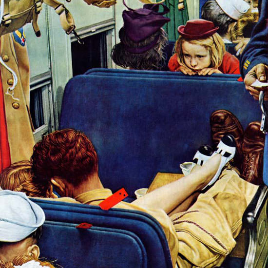 Norman Rockwell Saturday Evening Post 1944_08_12 Copyright crop | Best of Vintage Cover Art 1900-1970