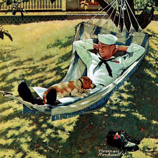 Norman Rockwell Saturday Evening Post 1945_09_15 Copyright crop | Best of Vintage Cover Art 1900-1970