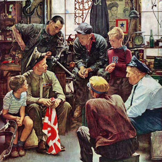 Norman Rockwell Saturday Evening Post 1945_10_13 Copyright crop | Best of Vintage Cover Art 1900-1970