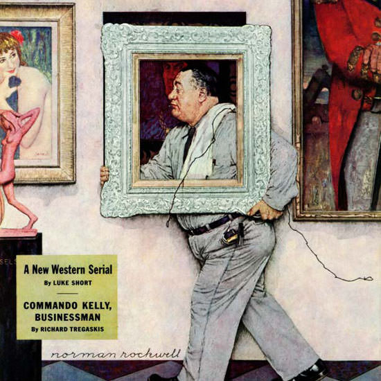 Norman Rockwell Saturday Evening Post 1946_03_02 Copyright crop | Best of Vintage Cover Art 1900-1970
