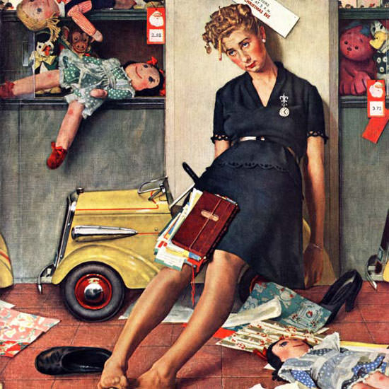 Norman Rockwell Saturday Evening Post 1947_12_27 Copyright crop | Best of Vintage Cover Art 1900-1970