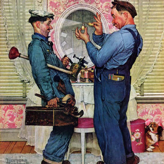 Norman Rockwell Saturday Evening Post 1951_06_02 Copyright crop | Best of Vintage Cover Art 1900-1970