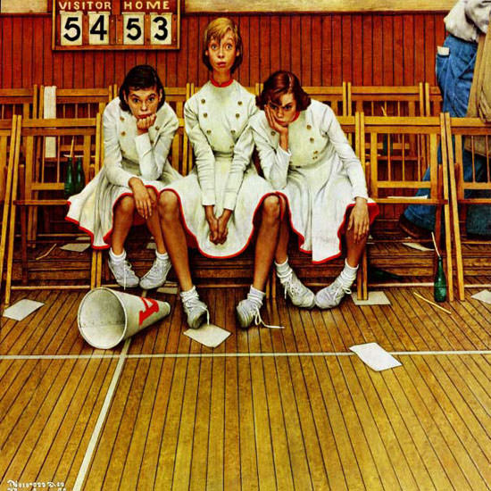 Norman Rockwell Saturday Evening Post 1952_02_16 Copyright crop | Best of Vintage Cover Art 1900-1970