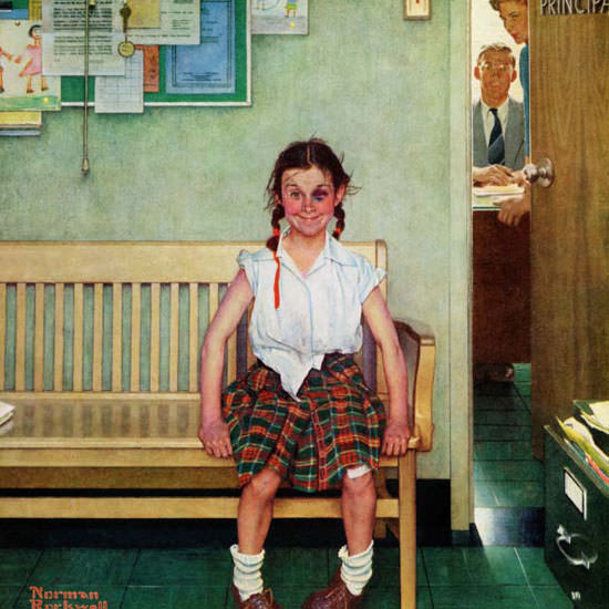Norman Rockwell Saturday Evening Post 1953_05_23 Copyright crop | Best of Vintage Cover Art 1900-1970