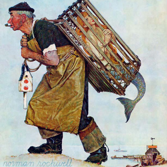Norman Rockwell Saturday Evening Post 1955_08_20 Copyright crop | Best of Vintage Cover Art 1900-1970
