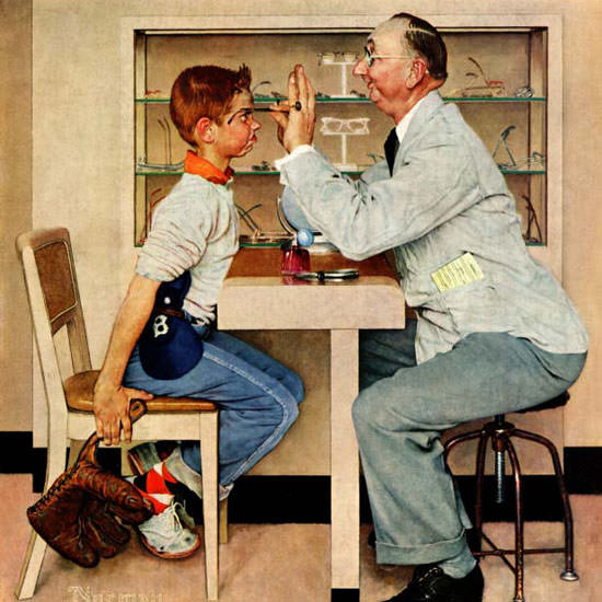 Norman Rockwell Saturday Evening Post 1956_05_19 Copyright crop | Best of Vintage Cover Art 1900-1970