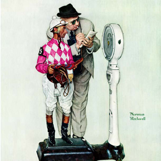 Norman Rockwell Saturday Evening Post 1958_06_28 Copyright crop | Best of Vintage Cover Art 1900-1970