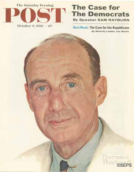Norman Rockwell Saturday Evening Post Adlai E Stevenson 1956_10_06 | The Saturday Evening Post Graphic Art Covers 1931-1969