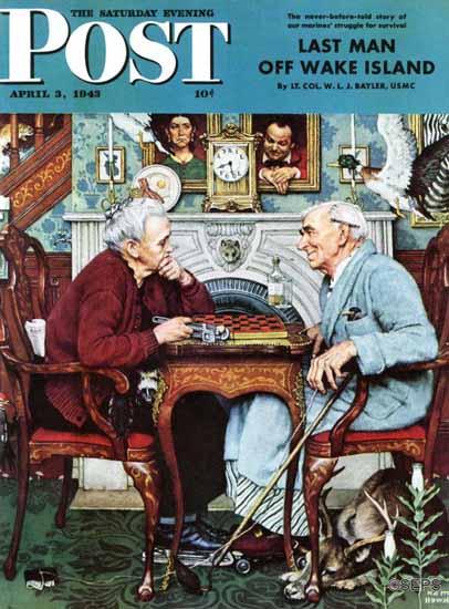 Norman Rockwell Saturday Evening Post April Fool 1943_04_03 | The Saturday Evening Post Graphic Art Covers 1931-1969