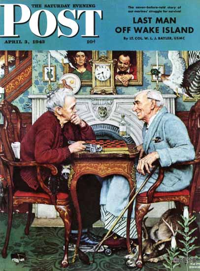 Norman Rockwell Saturday Evening Post April Fool 1943_04_03 | 400 Norman Rockwell Magazine Covers 1913-1963