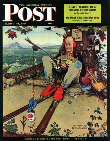 Norman Rockwell Saturday Evening Post April Fool 1945_03_31 | 400 Norman Rockwell Magazine Covers 1913-1963