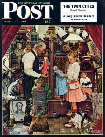 Norman Rockwell Saturday Evening Post April Fool 1948_04_03 | The Saturday Evening Post Graphic Art Covers 1931-1969