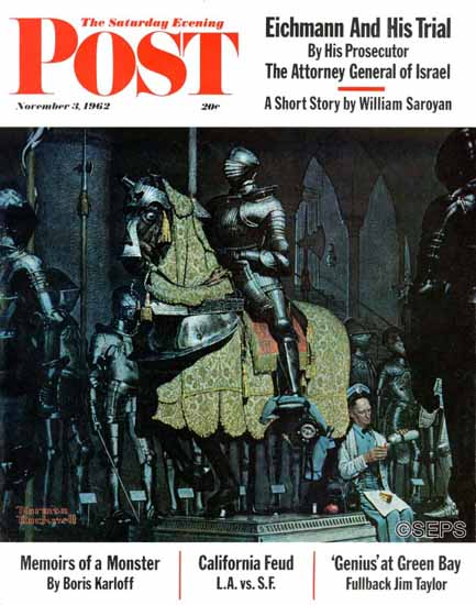 Norman Rockwell Saturday Evening Post Armor 1962_11_03 | 400 Norman Rockwell Magazine Covers 1913-1963