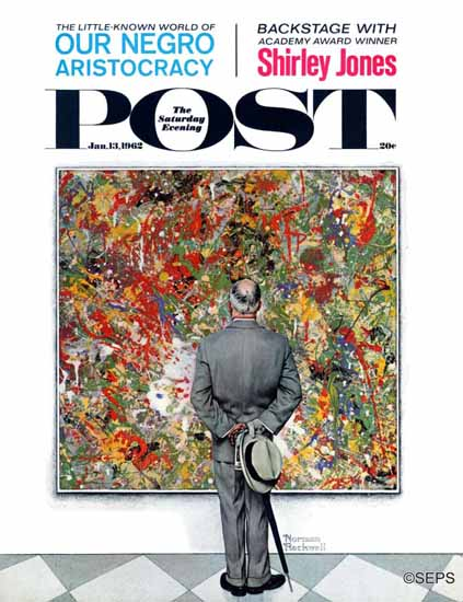 Norman Rockwell Saturday Evening Post Art Connoisseur 1962_01_13 | The Saturday Evening Post Graphic Art Covers 1931-1969