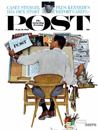 Norman Rockwell Saturday Evening Post Artist at Work 1961_09_16 | The Saturday Evening Post Graphic Art Covers 1931-1969