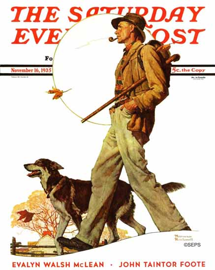 Norman Rockwell Saturday Evening Post Autumn Stroll 1935_11_16   400 Norman Rockwell Magazine Covers 1913-1963