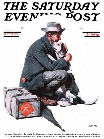 Norman Rockwell Saturday Evening Post Back from New York 1924_09_27 | 400 Norman Rockwell Magazine Covers 1913-1963