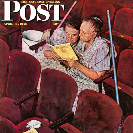 Norman Rockwell Saturday Evening Post Char 1946_04_06 Copyright crop | Best of Vintage Cover Art 1900-1970