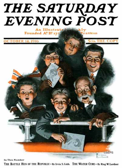 Norman Rockwell Saturday Evening Post Charles Chaplin 1916_10_14 | The Saturday Evening Post Graphic Art Covers 1892-1930