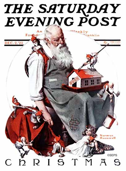 Norman Rockwell Saturday Evening Post Christmas 1922_12_02 | 400 Norman Rockwell Magazine Covers 1913-1963